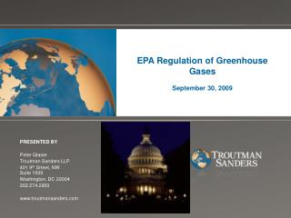 EPA Regulation of Greenhouse Gases September 30, 2009