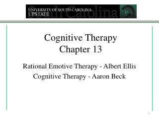 Cognitive Therapy Chapter 13