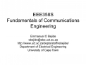 EEE358S Fundamentals of Communications Engineering