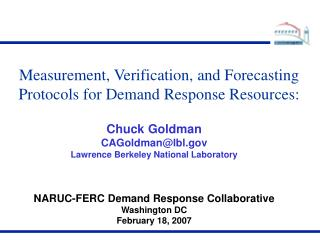 Measurement, Verification, and Forecasting Protocols for Demand Response Resources: