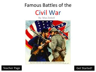 Famous Battles of the  C i v i l W a r