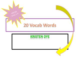20 Vocab Words