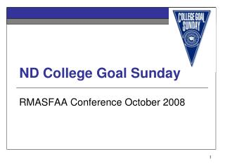 ND College Goal Sunday