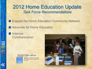 2012 Home  Education Update Task Force  Recommendations