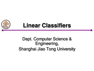 Linear Classifiers