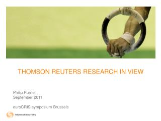THOMSON REUTERS RESEARCH IN VIEW