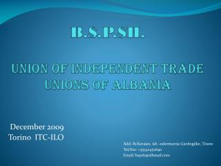 B.S.P.SH. Union of Independent Trade Unions of Albania