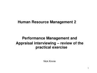 Human Resource Management 2