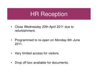 HR Reception