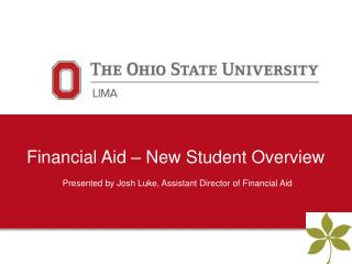 Financial Aid – New Student Overview