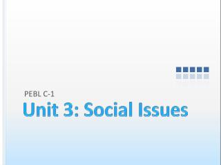 Unit 3: Social Issues