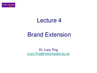 Lecture 4  Brand Extension