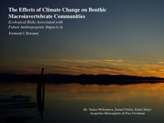 The Effects of Climate Change on Benthic  Macroinvertebrate Communities