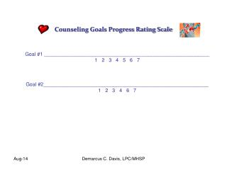 Counseling Goals Progress Rating Scale
