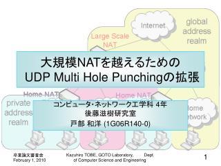 大規模 NAT を越えるための UDP Multi Hole Punching の拡張