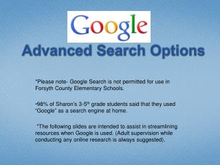 Google:  Advanced Search Options