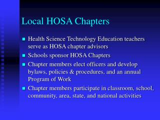 Local HOSA Chapters