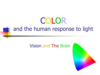 C O L O R and the human response to light