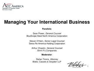 Managing Your International Business