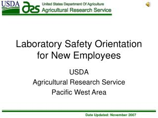 Laboratory Safety Orientation for New Employees