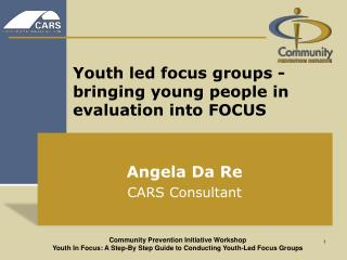Youth led focus groups - bringing young people in evaluation into FOCUS