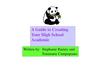 A Guide to Creating Your High School Academic  Portfolio