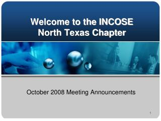 Welcome to the INCOSE North Texas Chapter