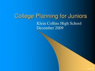 College Planning for Juniors