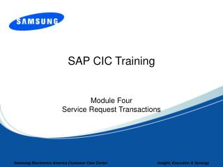 SAP CIC Training