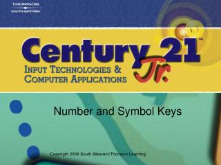 Number and Symbol Keys