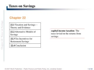Taxes on Savings