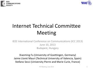 Internet Technical Committee Meeting