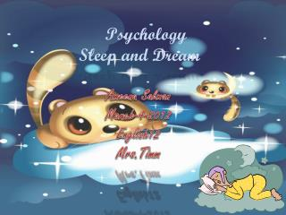 Psychology  Sleep and Dream