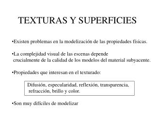 TEXTURAS Y SUPERFICIES