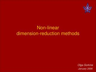 Non-linear  dimension-reduction methods