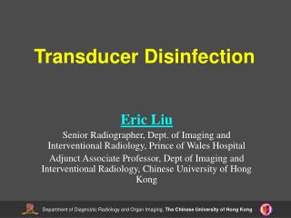 Transducer Disinfection