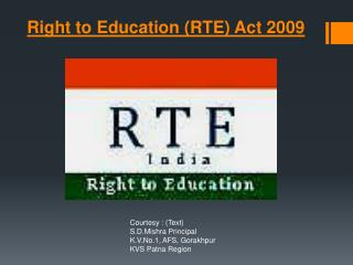Right to Education (RTE) Act 2009
