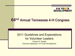 64 nd Annual Tennessee 4-H Congress