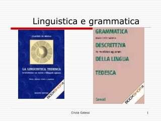 Linguistica e grammatica