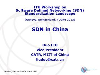SDN  in China