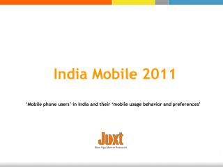 India Mobile 2011