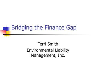 Bridging the Finance Gap