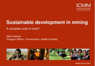 Sustainable development in mining