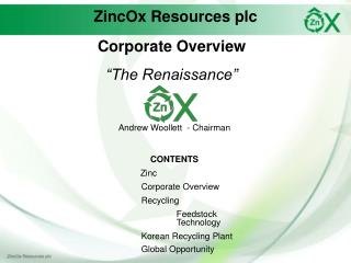 ZincOx Resources plc