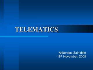 TELEMATICS