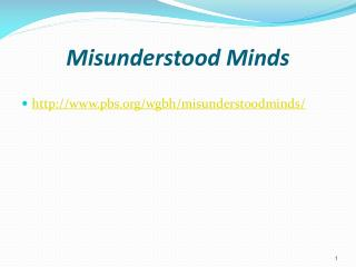 Misunderstood Minds