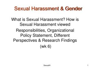 Sexual Harassment & Gender
