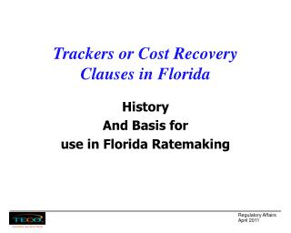 Trackers or Cost Recovery Clauses in Florida