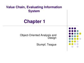 Value Chain, Evaluating Information System