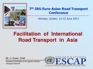 Facilitation  of  International  Road Transport  in  Asia